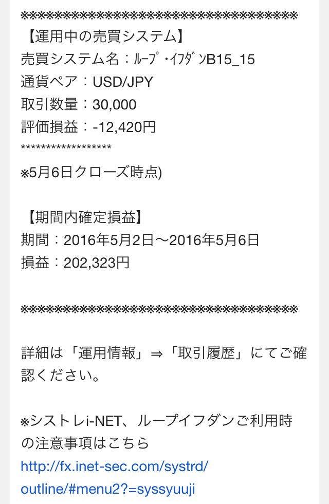 「2016年5月2日〜6日」確定損益