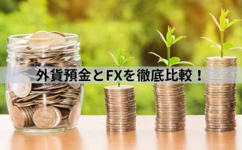 外貨預金とFXを徹底比較